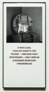 Carrie Mae Weems, American, born 1953 Segura Publishing Company, American, founded 1981 Not Manet's Type, 2001 offset photolithograph, number 18 out of an edition of 40 sheet: 101.6 x 50.8 cm (40 x 20 in.) Ackland Art Museum. Ackland Fund, 2002.24.3 © 2001 Carrie Mae Weems