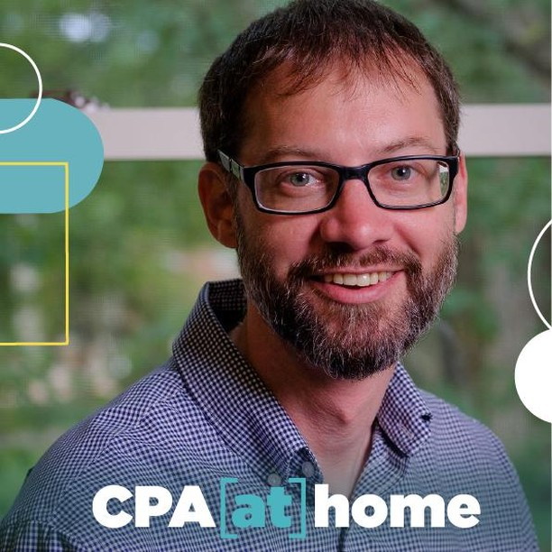 Photo by Carolina Performing Arts on May 22, 2020. Image may contain: 1 person, beard and eyeglasses, text that says 'CPA at] home'