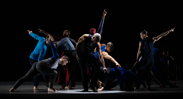 Dancers point dramatically in different directions while performing What Problem? by Bill T Jones/Arnie Zane Company.